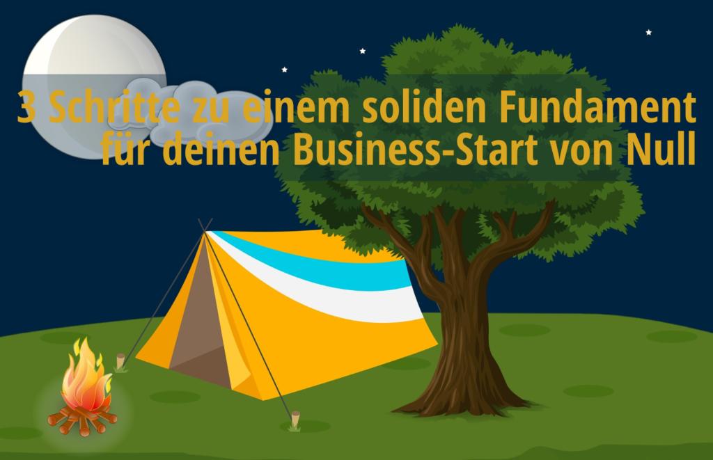 Basislager für Abenteuer Business-Neustart