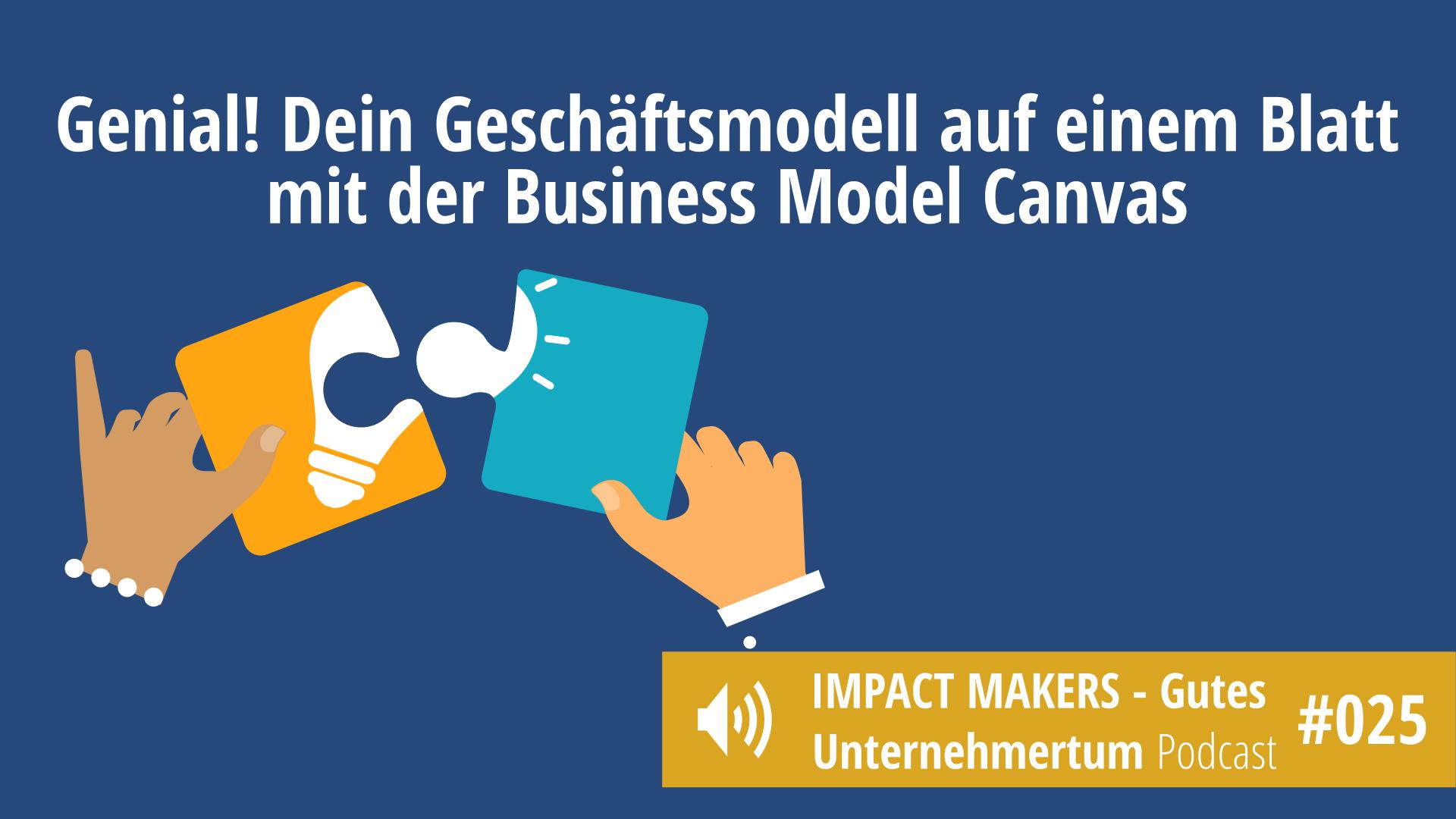 Business Model Canvas für Selbstständige und Inhaber kleiner Unternehmen